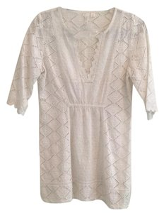 Anthropologie Eyelet Boho Empire Waist Tunic