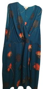 Anna Scholz Floral Pattern Silk Plus-size Dress