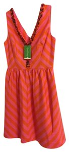 Lilly Pulitzer Preppy Empire Waist A-line Summer Embellished Dress