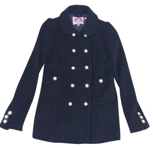 Juicy Couture Ruffle Wool Pea Coat