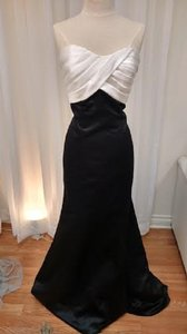 Mori Lee WHITE BODICE/BLACK DRESS 716 Morilee Dress