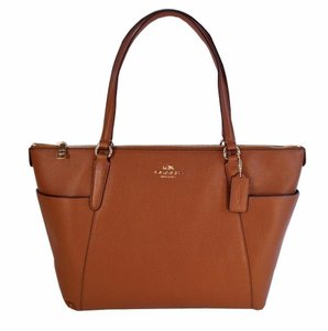 Coach Pebbled Leather Ava F37216 Tote in Saddle