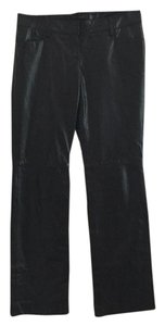 Express Leather Straight Pants Black
