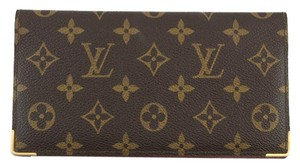 Louis Vuitton #8716 Monogram Long Bifold Wallet Bill Pocket Card Holder checkbook