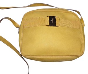Salvatore Ferragamo Gold Hardware Vara Accent Cross Body Bag