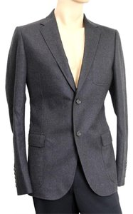 Gucci Wool Coat Jacket 265397 Charcoal Blazer