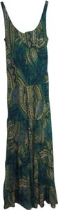 Green, blue, yellow and white Maxi Dress by Jones New York