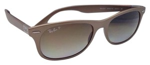 Ray-Ban Polarized RAY-BAN Sunglasses LITEFORCE RB 4207 6033/T5 Matte Brown