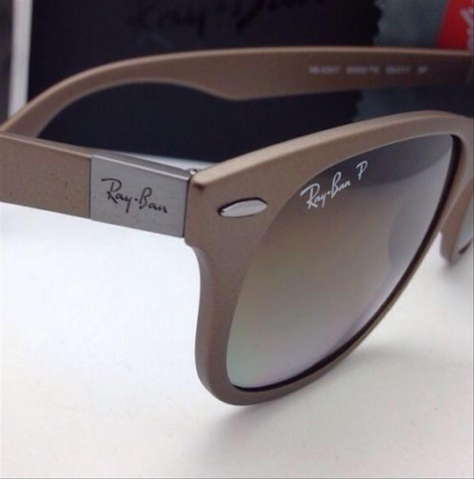 7b34f88219 Ray-Ban Liteforce Rb 4207 6033 T5 Matte Brown Frame W Brown Gradient  Polarized 6033 T5 Sunglasses - Tradesy