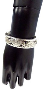 Brighton Magnetic Clasp Floral Jeweled Chunky Bangle Bracelet