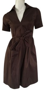 Diane von Furstenberg short dress Brown Wrap Small on Tradesy