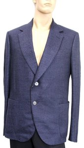 Gucci Wool/silk Jacket Blue Blazer