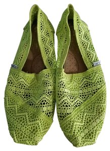 TOMS Lime Green Flats