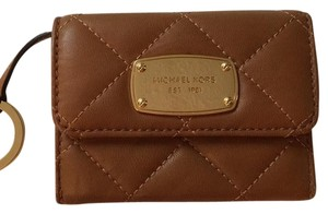 MICHAEL Michael Kors Small Brown Quilted Michael Kors Wallet.