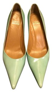 Stuart Weitzman Patent Leather Turquoise Pumps