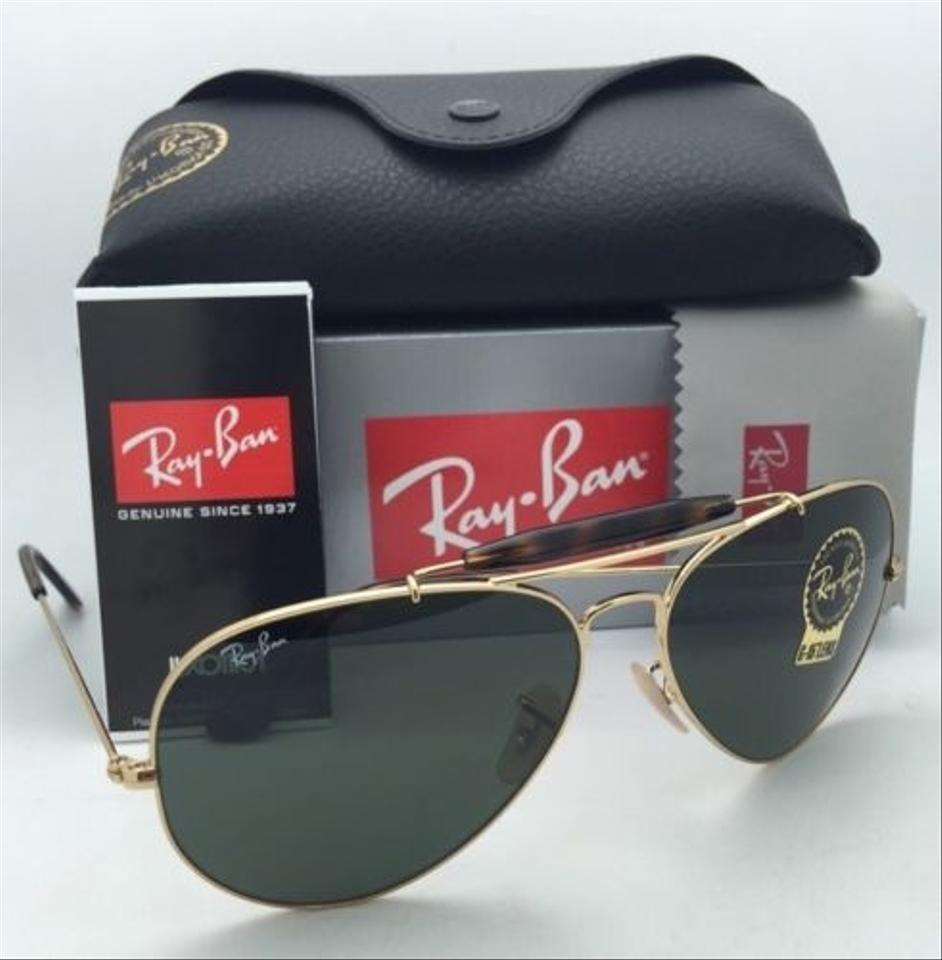 086e0268b48733 ... RAY-BAN Sunglasses OUTDOORSMAN II RB 3029 181 Aviator Gold w .  1234567891011