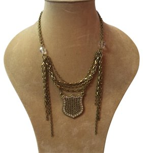 Sisi Amber Sisi Amber Brass Shield Necklace