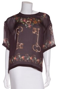 Dolce&Gabbana Top Key Print