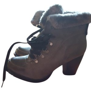 Dr. Brown Gray Boots