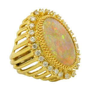 Other Over the Top Opal Ring with Diamonds