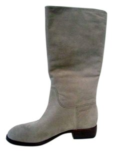 Via Spiga Jules Mid Calf Round Toe Leather Taupe Boots