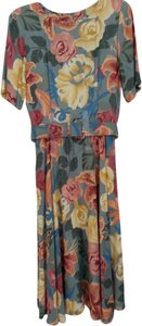 floral print, yellow, blue, green, mauve Maxi Dress by liz Claiborne Dresses