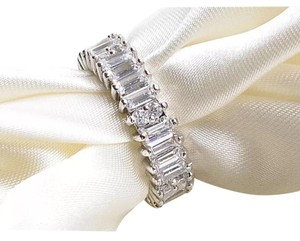 Ladies 5.5ct Emerald Cut AAA CZ Gold Filled Eternity Band