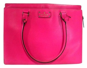 Kate Spade Wellesley Textured Large Leather Tote in Pink