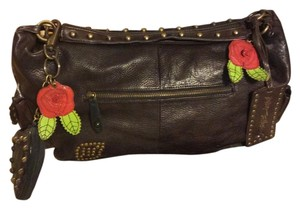 Betsey Johnson Vintage Studded Moto Satchel