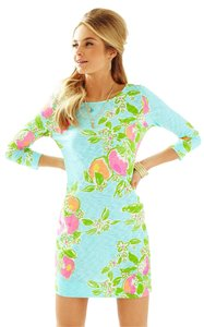 Lilly Pulitzer short dress Pool Blue Pink Lemonade on Tradesy