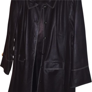 Bradley by Bradley Bayou Dark brown, chocolate Leather Jacket