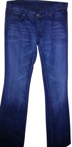 Citizens of Humanity Embroidered Stretchy Boot Cut Jeans-Light Wash
