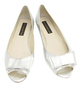Steve Madden Luxury Bow Silver Flats
