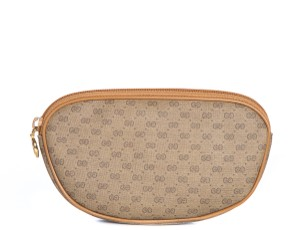 Gucci Gucci Tan Vintage Mini Monogram Cosmetics Case