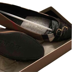Burberry Black/ Brown Flats