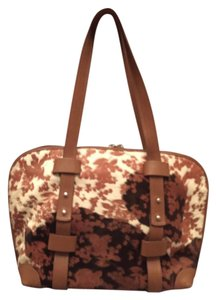 Rodo Vintage Satchel in brown, cream, white