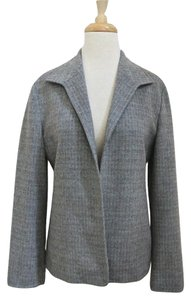 Zanella Open Front Check Brushed Flannel Tailored blue, brown Blazer