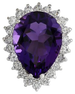 Fashion Strada Vintage 10.80CTW Amethyst & Diamond 14K Gold Ring
