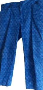 Coldwater Creek Natural Fit Capris royal blue and medium blue