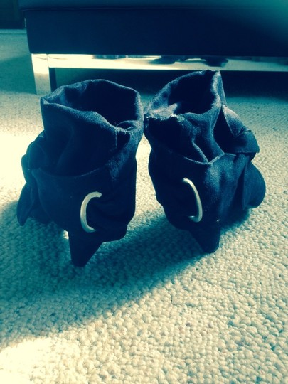 Other Heel Ankle Slouchy Boho Black Boots