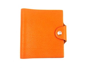 Hermès Pebbled Leather Agenda Cover Flap Wallet