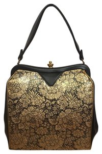 Other Vintage Brocade 1960s Pocketbook Satchel in Gold/Black
