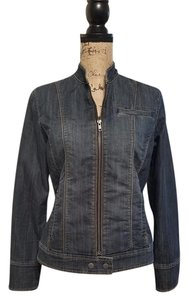 Coldwater Creek Denim Short dark wash/blue Womens Jean Jacket
