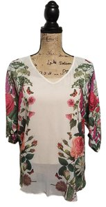 Yumi Top Cream/floral pattern