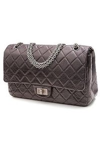Chanel Quilted Satchel in Dark purple