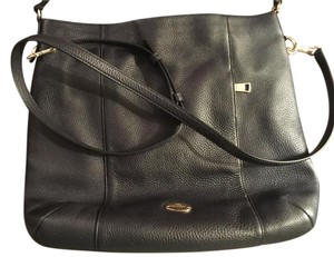Coach Leather Gold Hardware Cross Body Bag