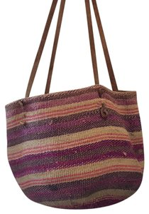 Other African Basket Farmers Market Straw Book Beach Tote in Multi