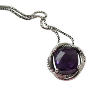 David Yurman Infinity Amethyst Pendant Necklace with 18