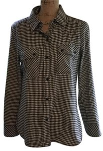 True Grit Button Down Shirt Black/cream plaid