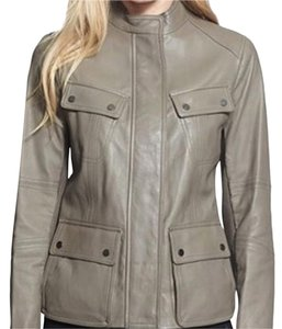 Vince Khaki Leather Jacket